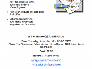 Thursday, Nov. 10 – Goldstein Takes On Worst Mistakes in Negotiating Employment Agreements